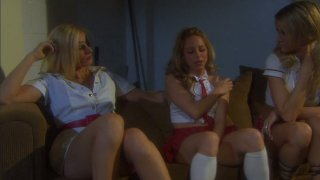 Impressive girlies Jessica Drake, Lindsey Meadows, Darryl Hanah eat each other's pussies with delight Thumbnail