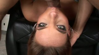 Flexible Evelyne Foxy gets a long dick drilling her throat Thumbnail
